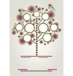 Modern family tree vector