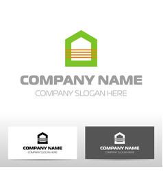 realty logo design vector image vector image