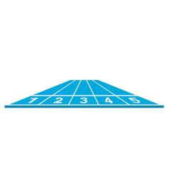 running track vector image