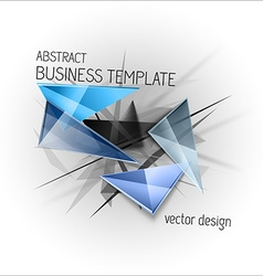 Sharp triangles on the abstract background busines vector