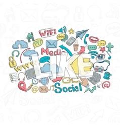 Social doodle like vector