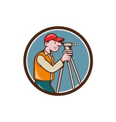 Surveyor geodetic engineer theodolite circle vector