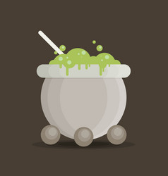 Symbols cauldron icon halloween concept vector