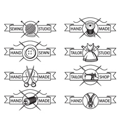 tailor labels vector image