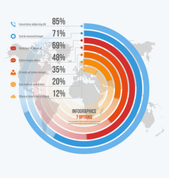 Template for circle informative infographics vector