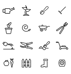 thin line icons - gardening vector image