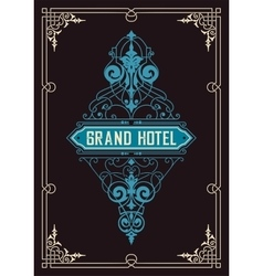 Vintage logo template hotel restaurant business vector