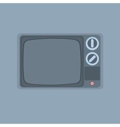 vintage TV minimalism style vector image vector image