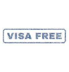 Visa free textile stamp vector