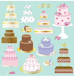 Wedding cakes vector