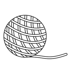 Yarn ball toy for cat icon outline style vector