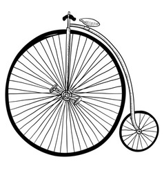Doodle bike penny farthing vector