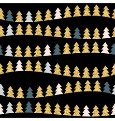 Abstract Beauty Christmas Tree and Seamless vector image