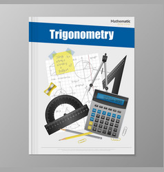Trigonometry flyer template vector