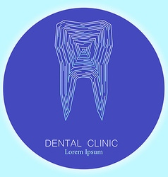 Dental clinic tooth logo vector