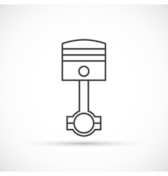 Piston engine outline icon vector