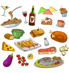 Restaurant food vector