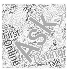 Ask the right questions first word cloud concept vector