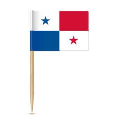 Panama flag flag toothpick 10eps vector