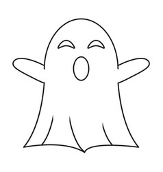 Ghost april fools s day thin line vector