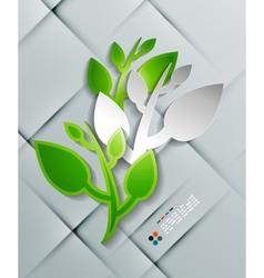 paper leaves modern design vector image