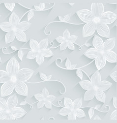 Seamless background floral pattern vector