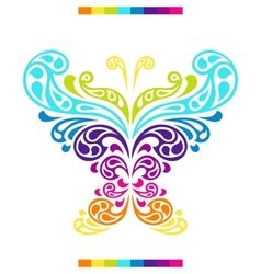 Butterfly in shape of abstract splashes drops vector