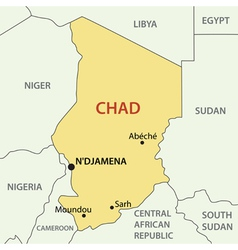 Republic of chad - map vector