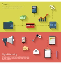 Digital marketing with megaphone and finance vector