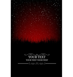 Night skyscape vector