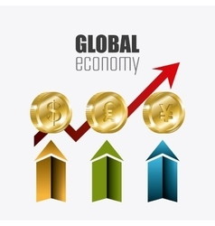 Global economy money and business design vector