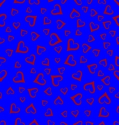 Seamless background hearts vector image