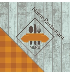 Menu with the texture of wood vector