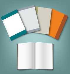 Collection of colorful books template vector image