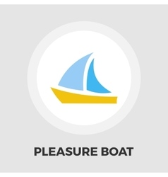 Pleasure boat icon vector