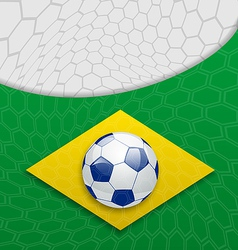 Abstract brazilian background with ball vector