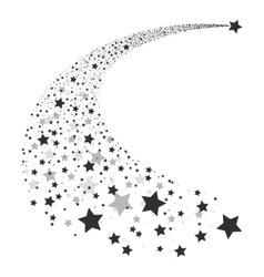 Abstract Falling Star vector image vector image