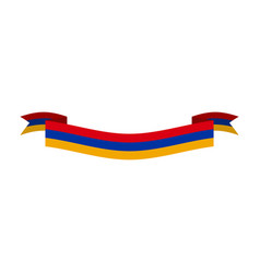 armenia flag ribbon isolated armenian tape banner vector image vector image