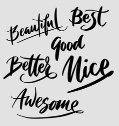 Better and awesome typography vector