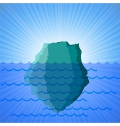 Big snow iceberg vector