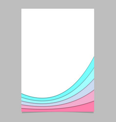 Blank brochure template from colorful curved vector
