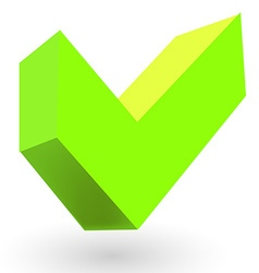 Bold green tick icon vector