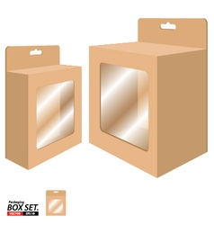 Box packaging design packaging box for brown paper vector