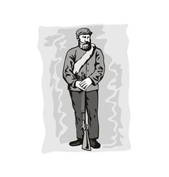 Civil war soldier vector