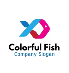 Colorful fish design vector