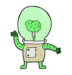 Comic cartoon robot cyborg vector
