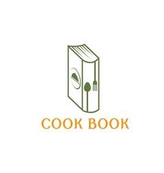 Cook book design template vector