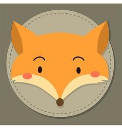 Cute Fox Head Cartoon vector image vector image