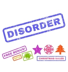 Disorder rubber stamp vector