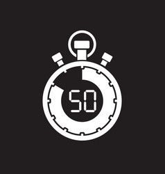 Fifty minute stop watch countdown vector